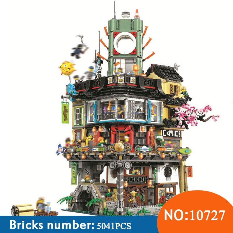 BELA Nuovo 10727 5041 pz Ninja Città Masters Of Spinjitzu Building Block Compatibile 70620 di Mattoni Giocattoli Per I Bambini