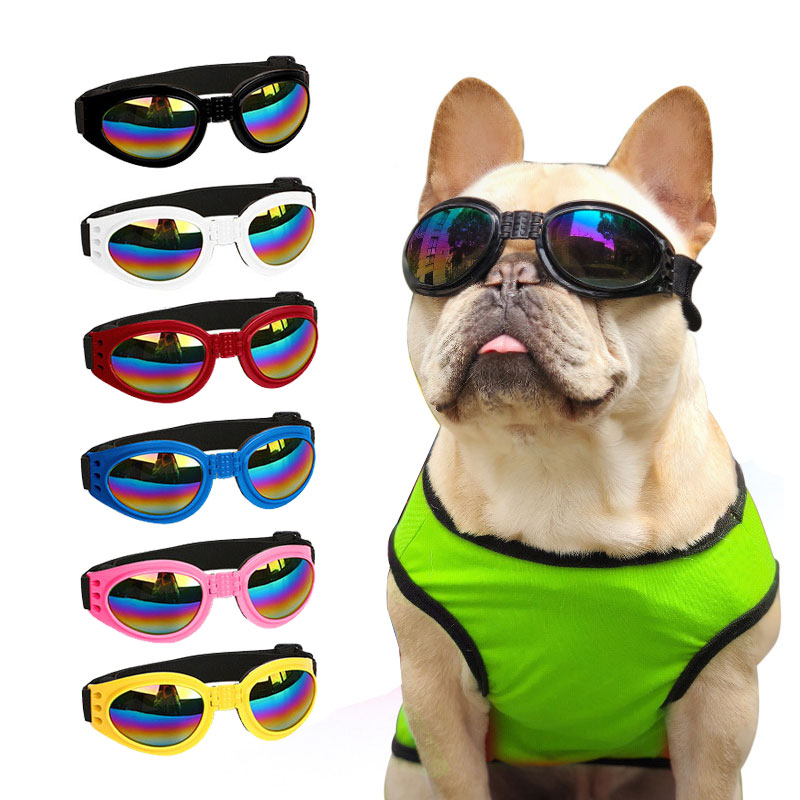 Foldable Dog Goggles Eye Wear Protection Waterproof Pet UV Sunglasses for pet Dogs About Over 15 lbs