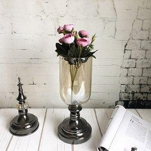 Image 2 - 9 ראשי מיני משי מלאכותי פרחים אדמונית פלורס פלר artificielles קמליה עבור בית חג המולד קישוט מזויף פרח זר