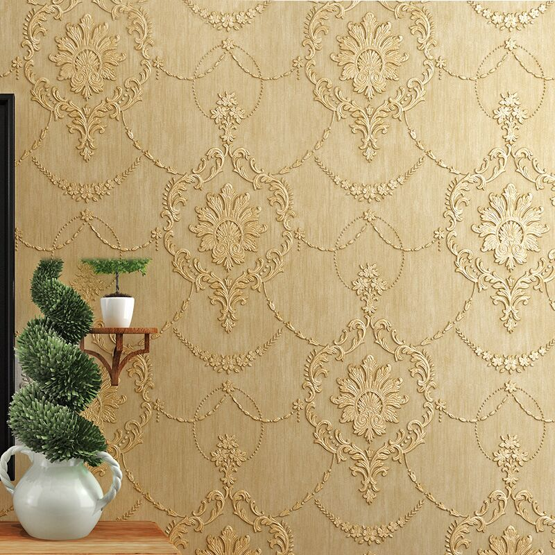 Q QIHANG European Style 3D Non-woven Bedroom Living Room TV Background Wallpaper 10M*0.53M=5.3M2 10pcs white canbus t10 194 168 w5w led 3 smd xpb chipsets wedge light 12v extremely bright led with error free
