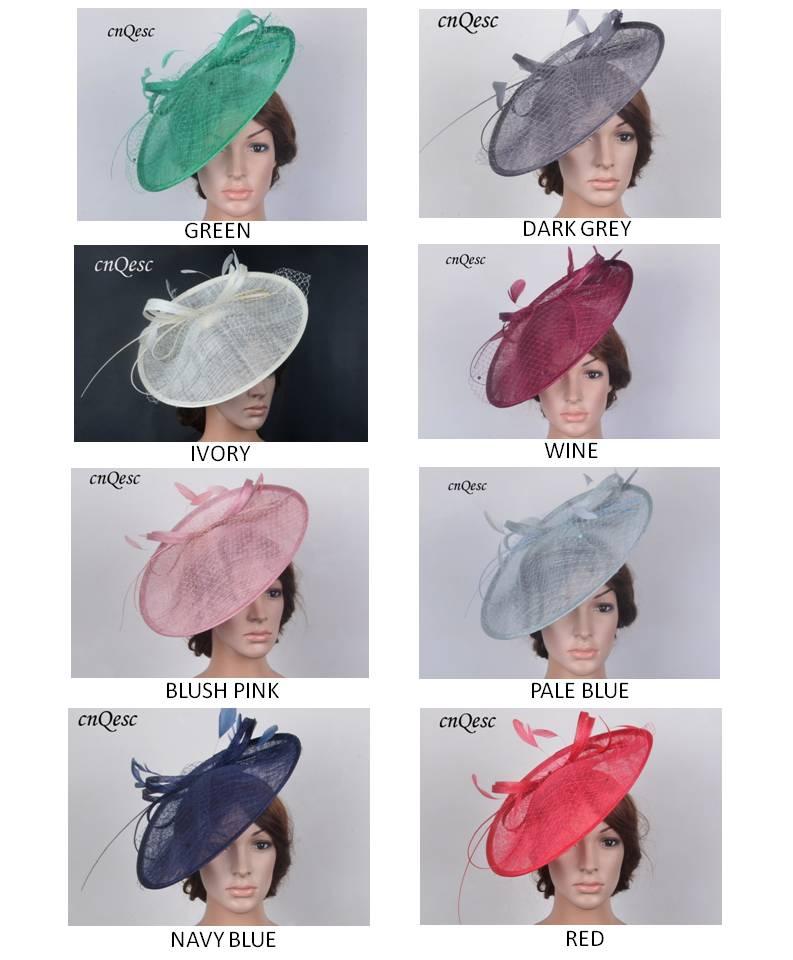 NEW BIG Sinamay Fascinator Hat Kentucky derby Hat wedding Hat diameter 35cm FREE SHIPPING