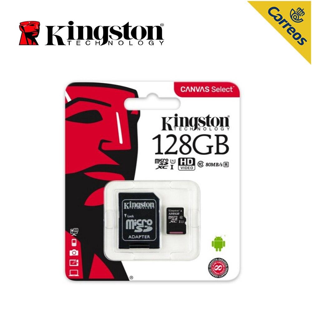 Kingston Technology de seleccione 128 GB microSDHC Clase 10 UHS-I 80 MB/S... negro Tarjeta de memoria para teléfono inteligente para altavoz