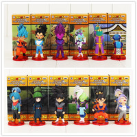 Dragon Ball Z Super Saiyan Goku Kakarotto Vegeta Trunks Jaco Torankusu PVC Modelo Figura Toy Hot Anime Japonês