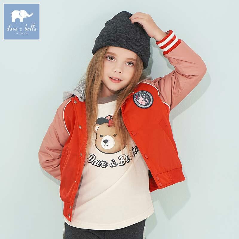 все цены на DBK8114 dave bella 5Y-13Y autumn winter girls coat children fashion hooded jacket kids boutique outerwear