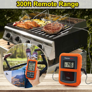 Image 2 - Original ThermoPro TP 20S Remote Wireless Digital BBQ, Oven Thermometer Home Use Stainless Steel Probe Large Screen with Timer