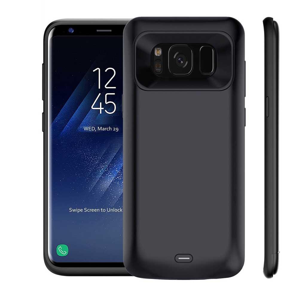 bilder für Meliid Für Samsung Galaxy S8 Plus 5500 mAh Slim Externe Batterie Tragbares Ladegerät Fall mit Weichen TPU Voll Schützen Lade fall