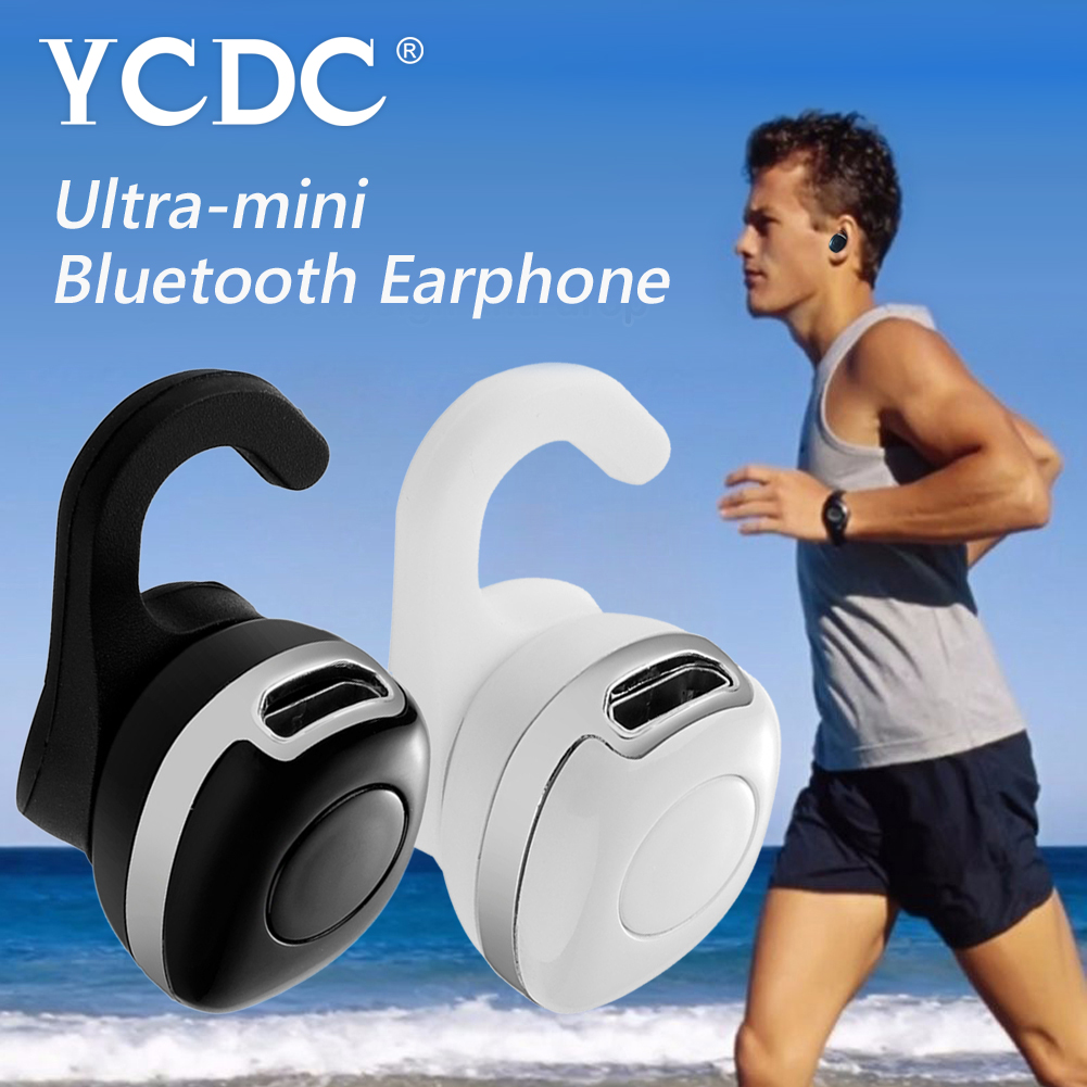 YCDC Super-mini V4.1 Bluetooth Headset for Mobile Phone Stereo Noise Cancelling Universal Wireless Earphone In-Ear Earbud+Hook universal led sport bluetooth wireless headset stereo earphone ear hook headset for mobile phone with charger cable