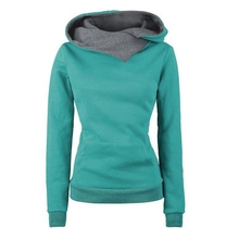 Plus Size Hoodies Women Autumn Winter Harajuku Hoodies Sweatshirt Contrast Color Pockets Oversize Pullover Sweatshirt Tops New недорого
