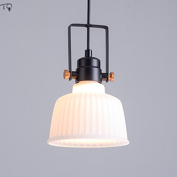 Rotating Glass Lampshade Nordic Pendant Lights Modern Atmospheric Led Hanging Lamp Industrial Living Room Dining Room Luminaire