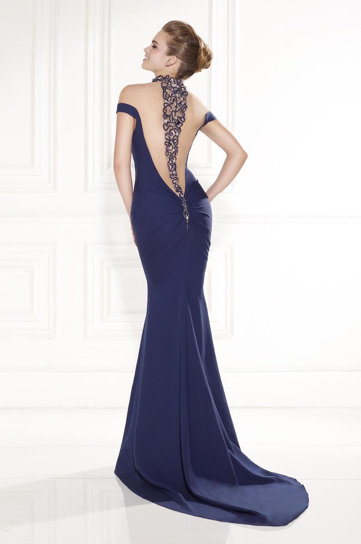 Vestido azul marino de noche