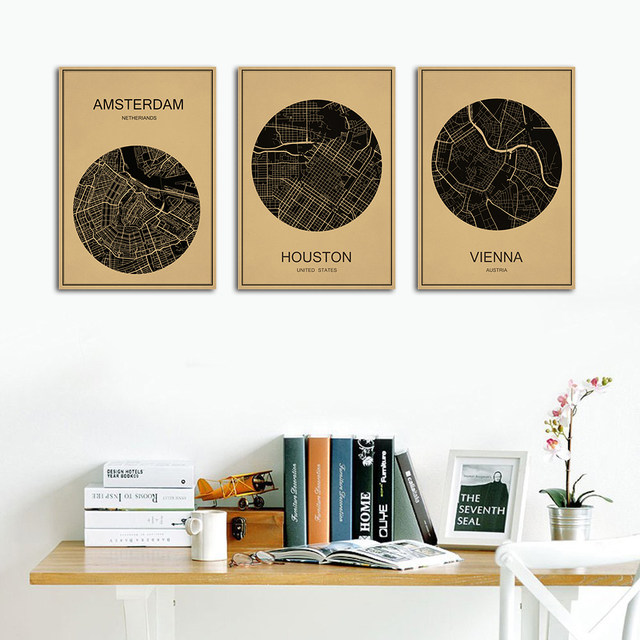 Online shop india new delhi world city map classic kraft paper india new delhi world city map classic kraft paper vintage retro poster wall sticker art painting living room cafe decor home gumiabroncs Image collections