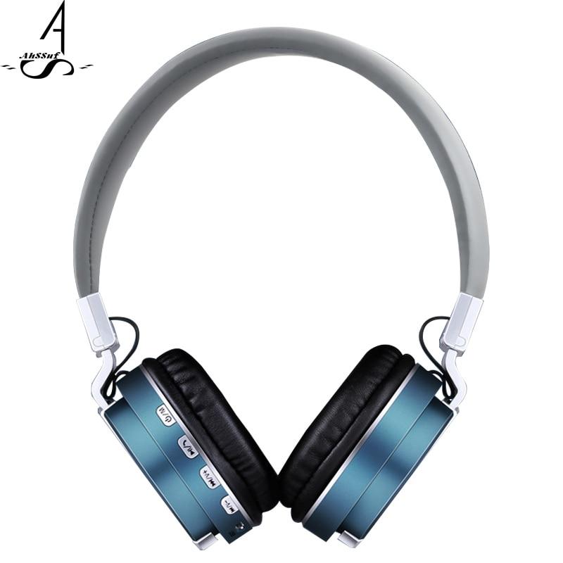 AhSSuf Bluetooth headphones microphone Sports FM Radio Memory Card Bass pc gamer computer consumer electronics for
