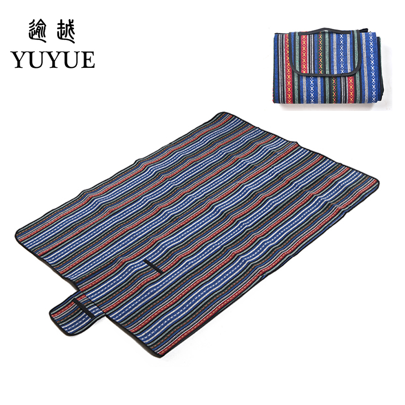 150*200cm  beach mat for tourist camping tent fishing picnic camping mat high quality folk style picnic mat camping equipment 1