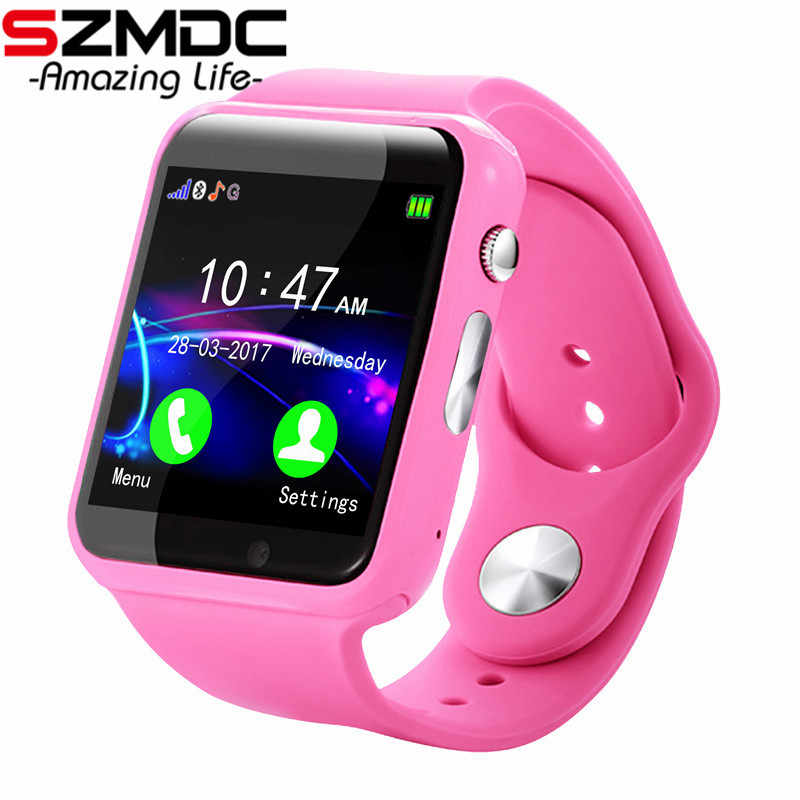 SZMDC Smart Watch Women A1 Smart Bluetooth Watch With Passometer Camera Support SIM TF Card For Android Phone Smart watch Kids