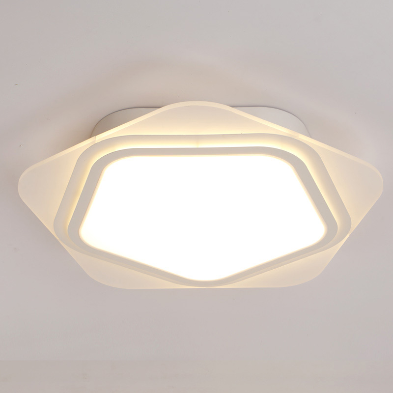 Modern LED Ceiling Lights With Remote Control Kitchen Living Room Bedroom Lamp Decor Indoor Home Lighting White Iron Acrylic white acrylic lamps modern ceiling light led with remote control living room bedroom kitchen decor home lighting fixtures 220v