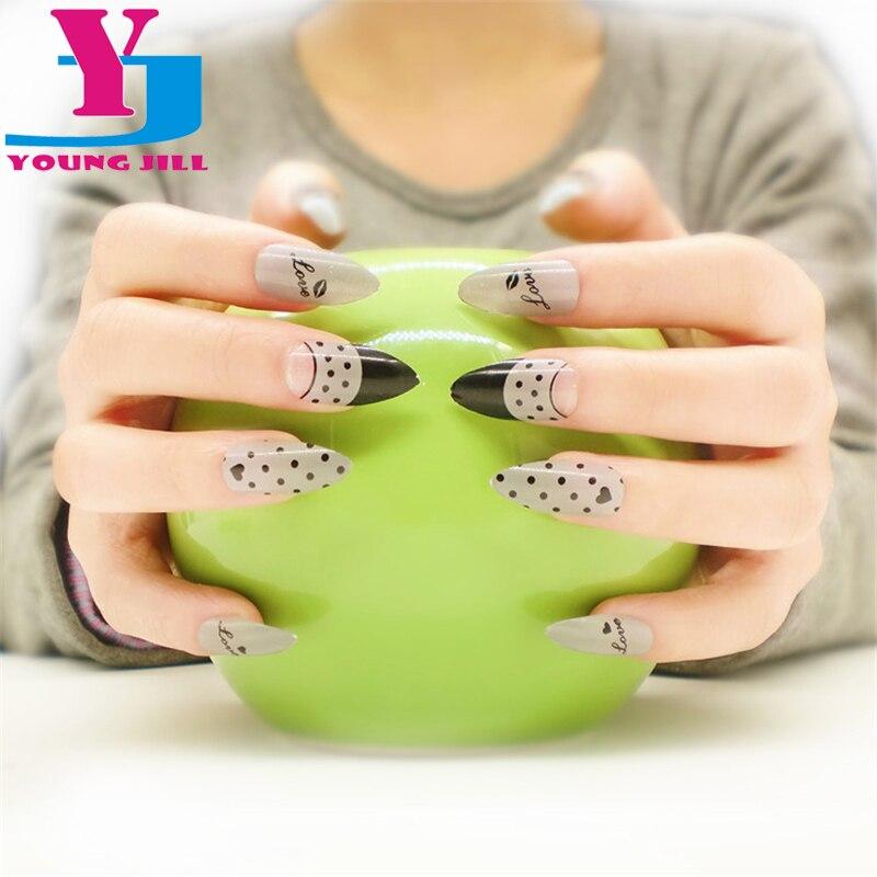 Phototherapy Fake Nails New UV Acrylic Full Cover Nail Art Tips ...