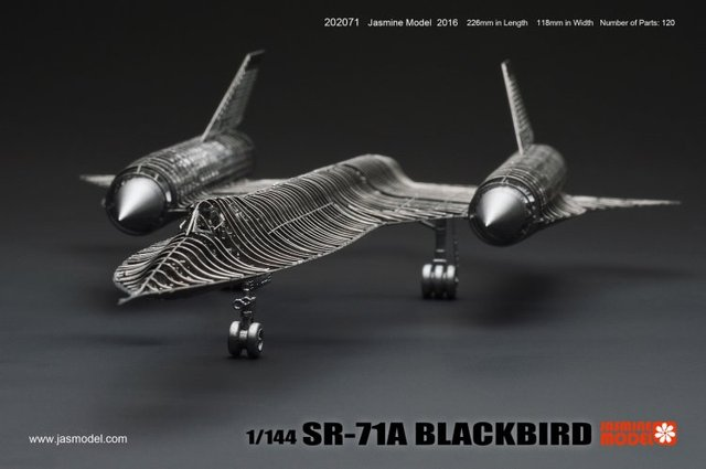 1/144 SR-71A BLACKBIRD 3D Metal assembly model aircraft puzzle Creative intelligence toy Classic collection
