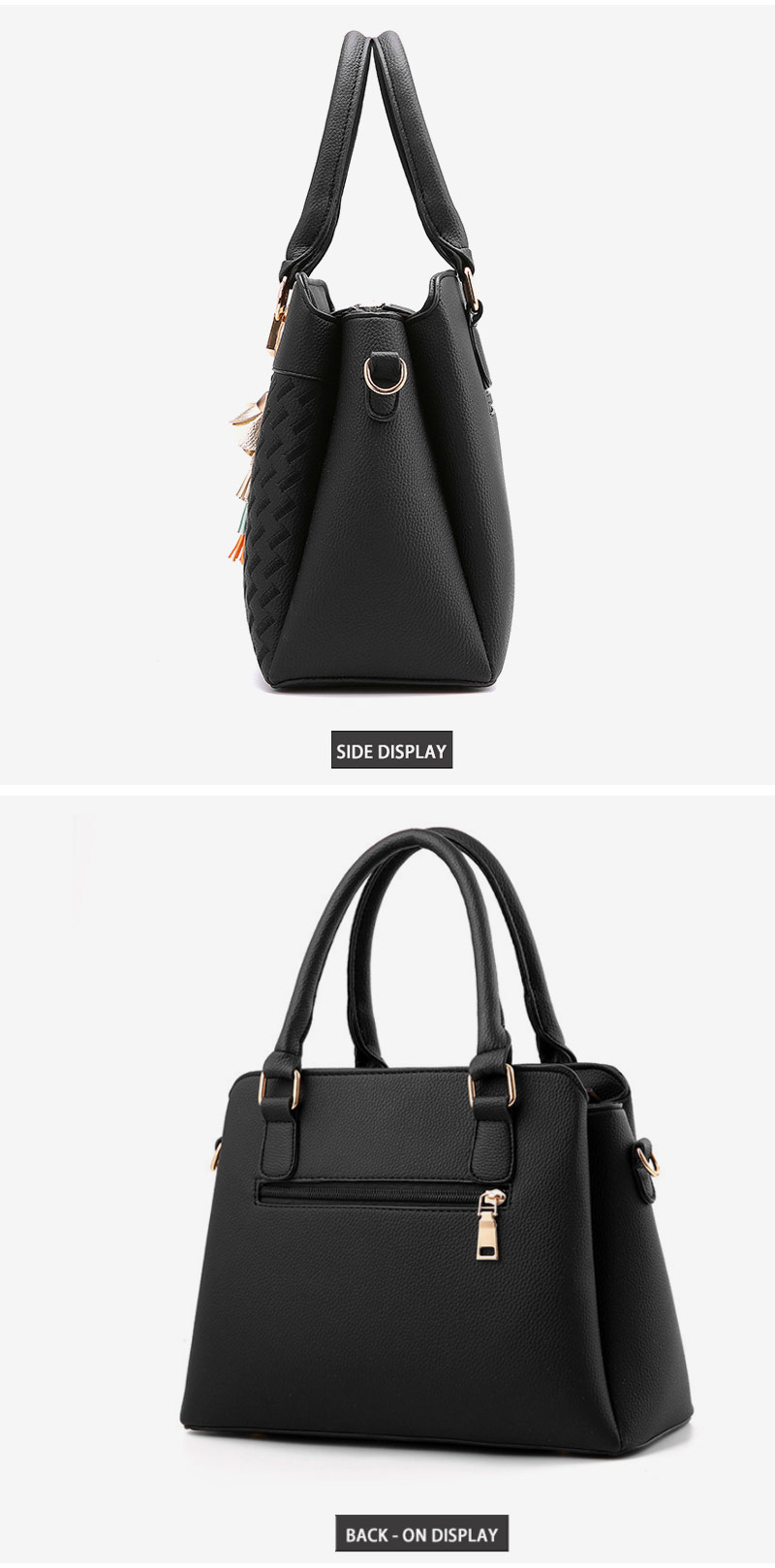 STSR Leather Clutch Bag Female Handbag Luxury Beach Tote Ms. Fringe Shoulder Bag Tote gray one size 16
