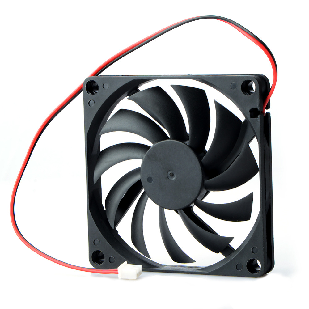 80mm 2 Pin Connector Cooling Fan For Computer Case Cpu Cooler Electric Radiator Accessories