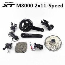 シマノ DEORE XT M8000 グループセット 28 38T 26 36T 170 175 ミリメートルクランクセットマウンテンバイクグループセット 2 × 11 速度 40T 42T 46T M8000 22 速度