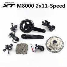 SHIMANO DEORE XT M8000 набор групп 28 38T 26 36T 170 175 мм шатун для горного велосипеда, 2x11 скорости 40T 42T 46T M8000 22 скорости