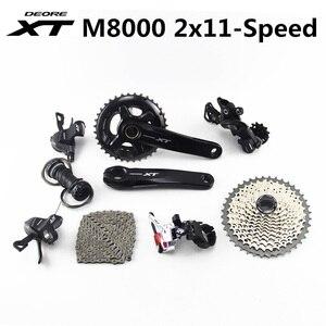 Image 1 - SHIMANO DEORE XT M8000 Groupset 28 38T 26 36T 170 175mm mechanizm korbowy rower górski grupa 2x11 prędkość 40T 42T 46T M8000 22 prędkość