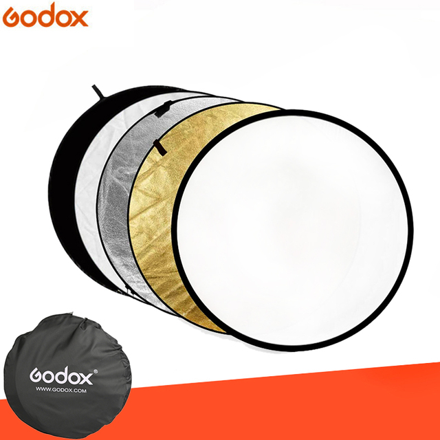 """80 cm 31 """"5 in 1 Reflector Fotografia Ronde Flash Photo Studio opvouwbare light reflector Goud Zilver Wit Zwart doorschijnend"""
