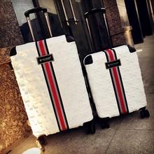 Новые популярные сумки на колёсиках 20/24/28 дюймов Высокое качество модные чемодан на колесах из поликарбоната Спиннер стильный Дорожный чемодан