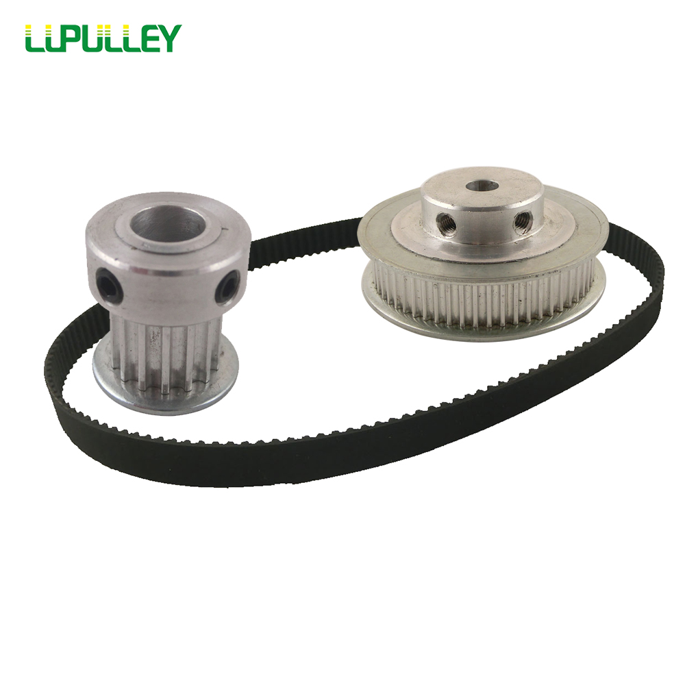 LUPULLEY HTD Timing Belt Pulley HTD3M Reduction 1:4 Timing pulley 15T And 60T 309-3M Timing belt Width 10mm Belt Pulley Gear все цены