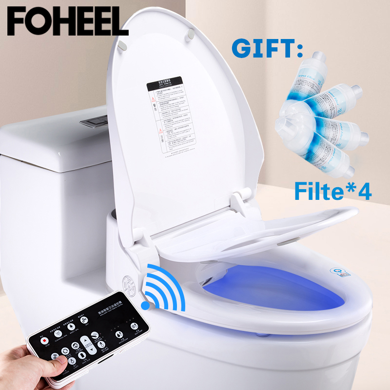 FOHEEL Smart toilet seat toilet seat bidet Electric Bidet cover heat sit led light integrated children