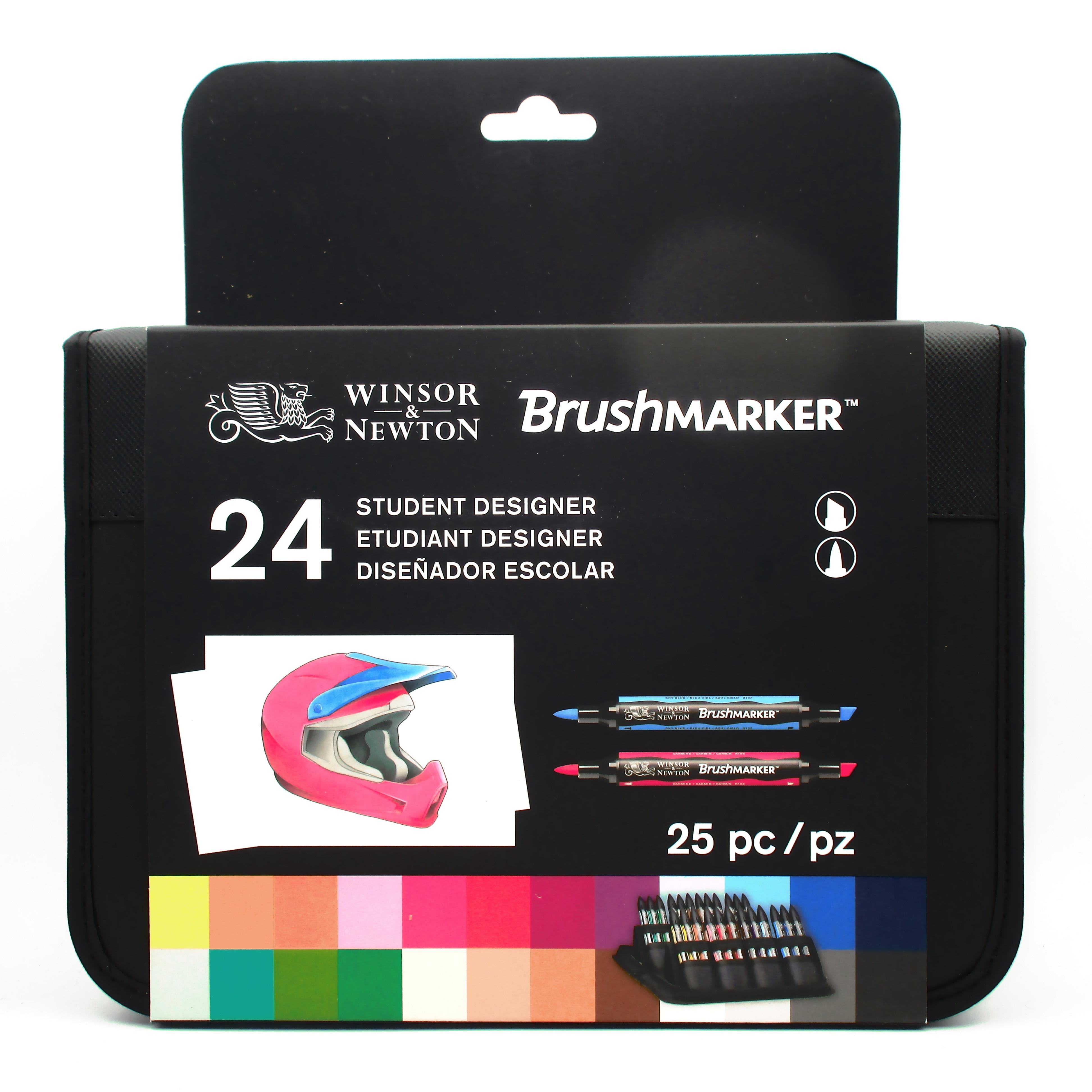 Winsor & Newton pinceau étudiant Designer ensemble 24 couleurs marqueurs-in Marqueurs à dessin from Fournitures scolaires et de bureau    1