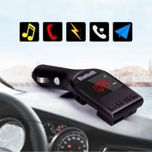 цена на MAHAQI Bluetooth Car Kit MP3 Player FM Transmitter Handsfree Wireless FM Modulator Support TF Micro SD USB Music Playing Hot Sal