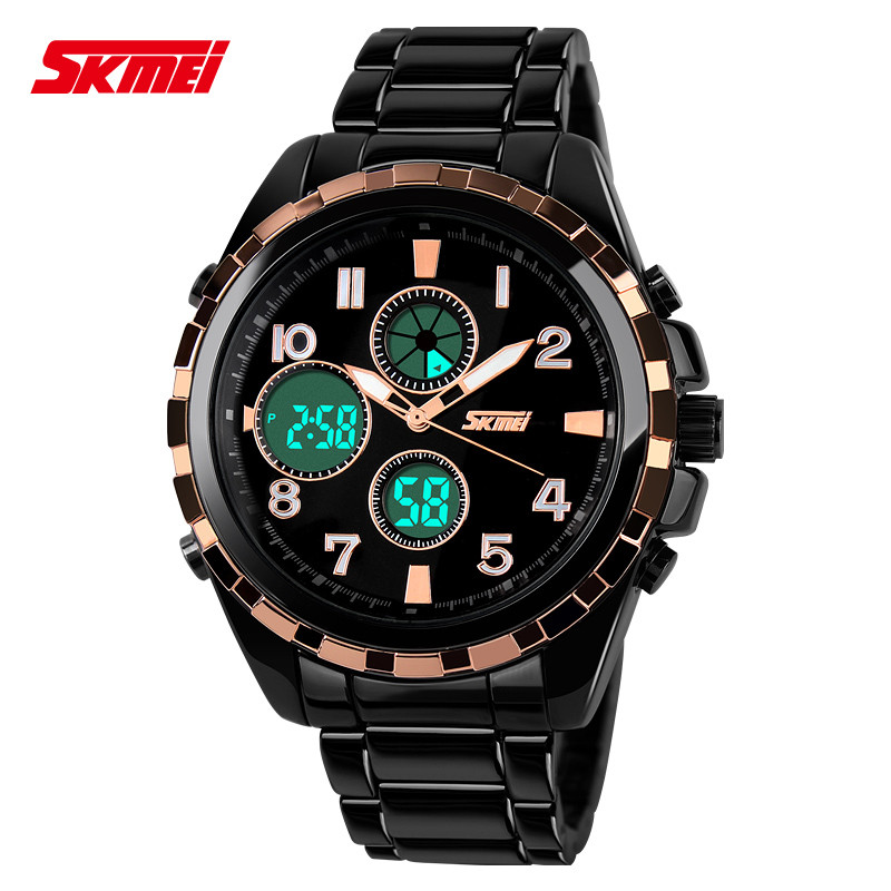 ФОТО At loss luxury design chrono waterproof multifunctional skmei reloj creative Digital quartz LED Analog-digital Outdoor watches