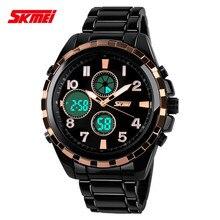 При потере роскошный дизайн reloj хронограф водонепроницаемый многофункциональный skmei творческий Цифровые кварцевые LED Аналого-цифровой Открытый часы