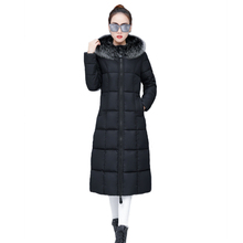 New 2019 Winter Jacket Women Cotton Padded Coat Fur Collar Hooded Parka Female Long Thick Warm Outerwear Chaqueta Mujer стоимость
