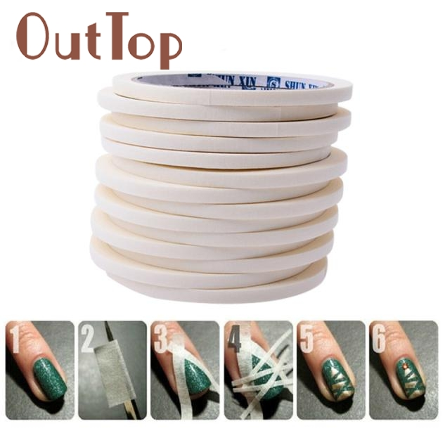 #15# 17m*0.5cm French Style Manicure Nail Art Tips Creative Nail Stickers Tape Decor DEC30