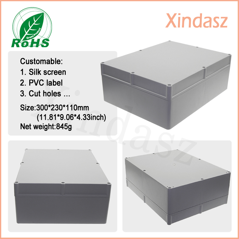 300*230*110mm plastic box enclosure electronic outdoor weatherproof electrical enclosures waterproof sealed aircraft electrical and electronic systems