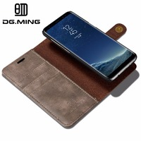 DG Ming 2Z Magnetic Cover Flip Case For Samsung Galaxy S8 Case Genuine Leather Coque Capinha