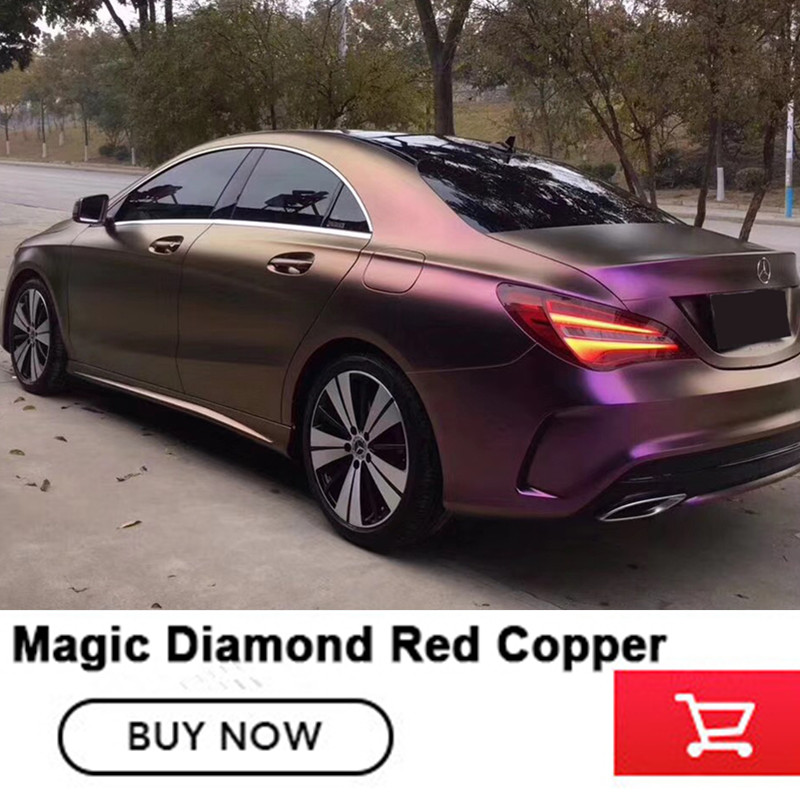 Diamond Purple gold Vinyl car vinyl wraps Germany solvent based low initial tack adhesive film with air release High end vinyl