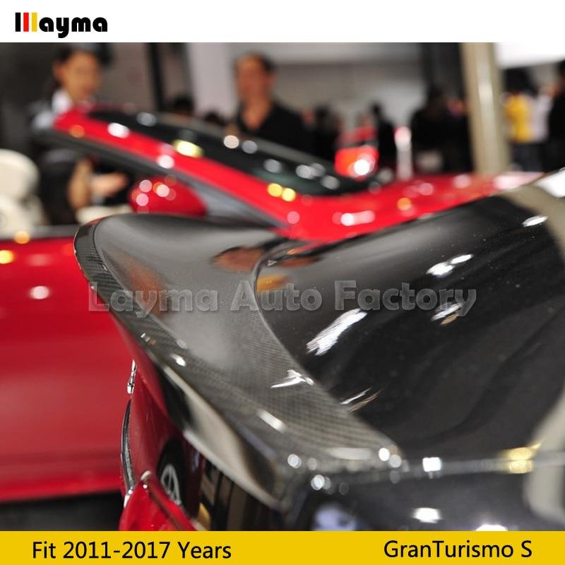 Nov style Carbon fiber rear trunk spoiler For Maserati Gran Turismo Sport 4.7T Coupe 2011-2017 year GTS car spoiler wing