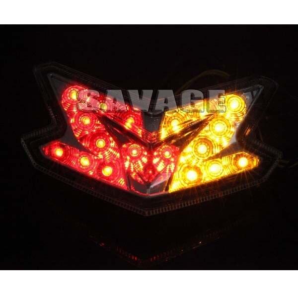 Accesorios de la motocicleta led integrado luz trasera de señal de vuelta blinker para kawasaki z800 2013-2014 el humo de alta calidad