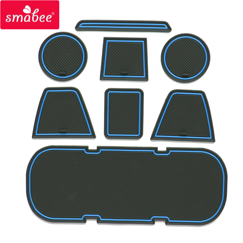 Smabee Gate Slot Pad For Toyota 86/BRZ Interior Door Pad/Cup Non-slip Mats Red Blue White   8PCS