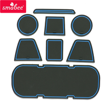Smabee ворота слот площадку для Toyota 86/BRZ межкомнатных дверей Pad/чашки не скользит коврики красный синий белый 8 шт.
