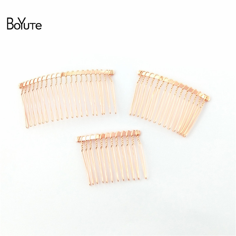BoYuTe 10Pcs Vintage Hand Made Diy Wire Comb Metal Hair Comb Base 6 Colors Plated Women's Diy Hair Jewelry Accessories (1)