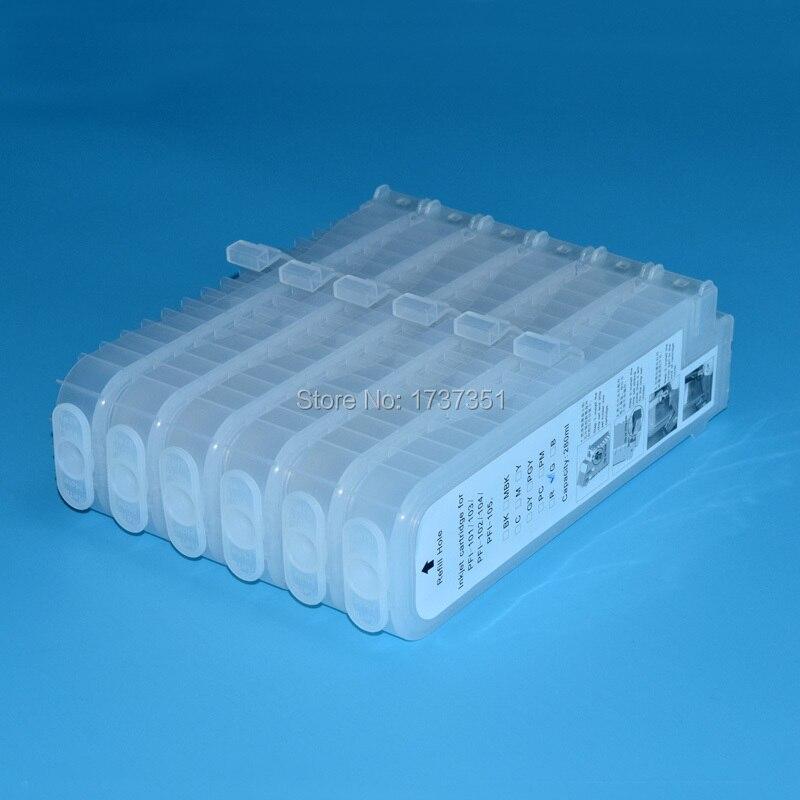 280 мл 6 цветной картридж для принтера с совместимым чипом для Canon PFI 102 для iPF510 iPF600 iPF610 iPF710 принтера|ink cartridge|printers ink cartridgesprinter cartridges | АлиЭкспресс