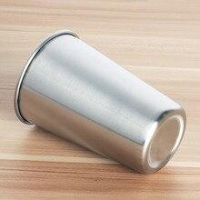 30 мл/70 мл/180 мл/320 мл бокалы для вина чайные чашки из нержавеющей стали металлический стакан кружки для чая, молока для дома