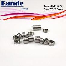 Kande Lager 10 stücke MR52ZZ 2x 5x 2,5 MR52 Miniatur Kugellager MR25 ZZ