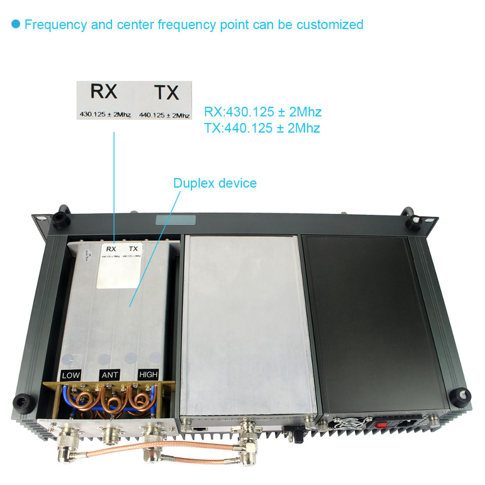 Retevis RT-9550 DMR Repeater 55W UHF/VHF Digital/Analog Mode TDMA 2 Time Slots IP Networking A9116A