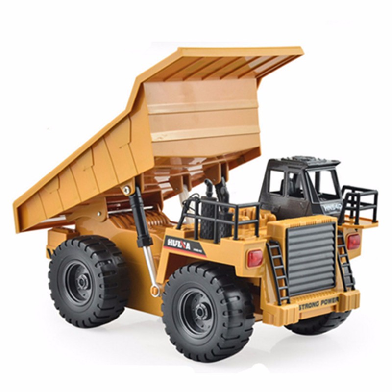 HuiNa Toys1540 Six Channel 1 / 12RC Metal Dump Truck Charging RC Car