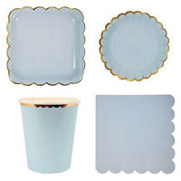 Party Supplies Disposable Party Tableware Sets Dinner 8pcs 7 9 Inch Disk Tablewares Plates Cups 20pcs